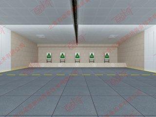 部队射击训练命中起倒靶机