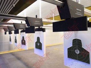 特警射击训练悬挂式轨道靶 特警实弹射击训练靶场装备